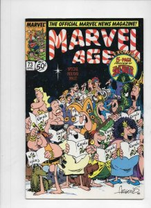 MARVEL AGE #73, VF+, Groo Sergio Aragones Xmas cv 1985 1989 more Marvel in store