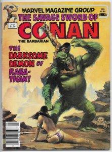 Savage Sword Of Conan Magazine #84 Chiodo Cvr (Marvel, 1982) FN