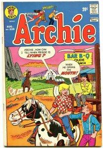 Archie #228 1973-Betty-Veronica-Jughead- Western Cowboy Dude Ranch cover