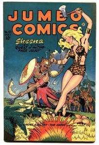 Jumbo #101 1947-Sheena girl fight cover-Matt Baker Sky Girl