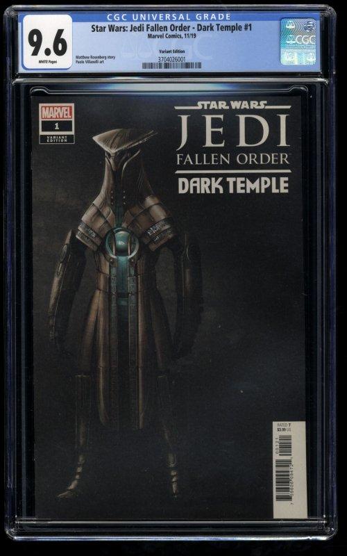 Star Wars: Jedi Fallen Order - Dark Temple #1 CGC NM+ 9.6 Variant 1st Cere Junda
