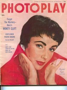 Photoplay-Elizabeth Taylor-Jane Russell-Charlton Heston-Robert Mitchum-Dec-1954