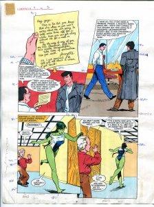 Elementals #9 Page #3 Original Color Guide Ken Feduniewicz