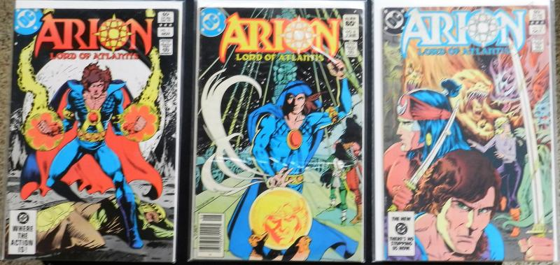 ARION, LORD OF ATLANTIS 3 HIGHER GRADE ISSUES (DC Comics 1980s)