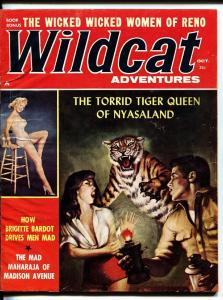 Wildcat Adventures 10/1960- Tiger attack-Brigitte Bardot-Cheesecake