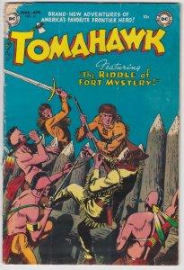 Tomahawk #16 (March 1953) 2.5 GD+ DC Western