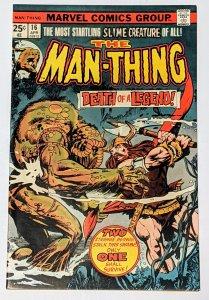 Man-Thing #16 (Apr 1975, Marvel) VF- 7.5 Steve Gerber story