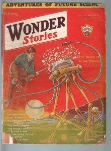 WONDER STORIES 2/1932SCI-FI PULP-WAR OF THE WORLDS! G/VG