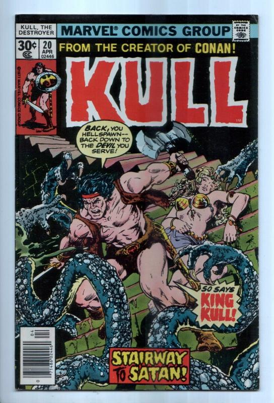 Kull the Destroyer #20 - The Hell Beneath Atlantis! (Marvel, 1977) - VF-