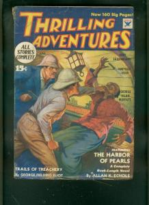 THRILLING ADVENTURES-JUNE 1934-HARBOR OF PEARLS--PULP FN