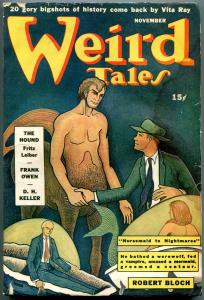 Weird Tales Pulp November 1942- Re-animator HP Lovecraft- Robert Bloch FN-
