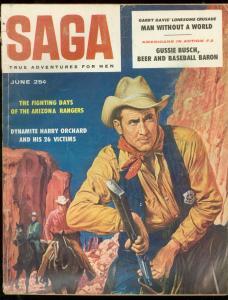 SAGA MAGAZINE JUNE 1958-GUSSIE BUSCH-BEER-BASEBALL VG