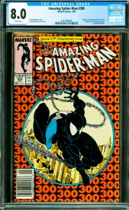 Amazing Spider-Man #300 CGC Graded 8.0 Origin & 1st full appearance of Venom ...