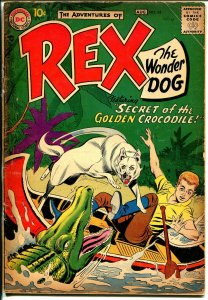 Adventures of Rex The Wonder Dog #34 1957-DC-Detective Chimp-crocodile-G