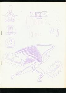 CONDOR FANZINE #1-1960s ORIGINAL COMIC FANZINE-THE EYE PIN UP-CRIMSON DART FN