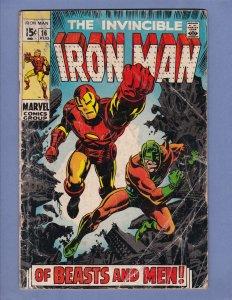 Iron Man #16 GD Marvel 1969 Silver Age