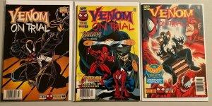 Venom on trial set:#1-3 8.0 VF (1997)