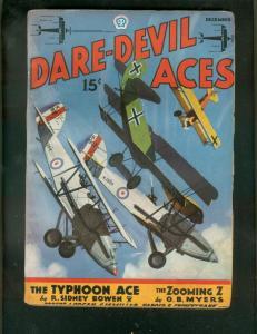 DARE-DEVIL ACES PULP-DEC 1935-VAMPIRE FLIGHT-SMOKE WADE VG