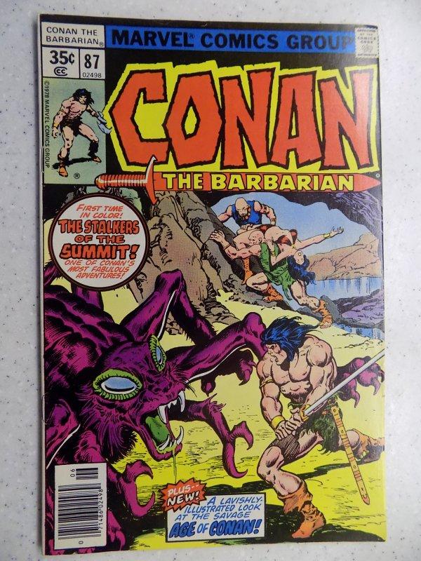 CONAN THE BARBARIAN # 87 MARVEL SAVAGE SWORD FANTASY