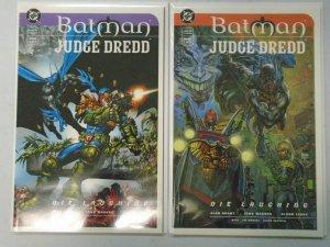 Batman Judge Dredd Die Laughing set #1+2 8.5 VF+ (1998)