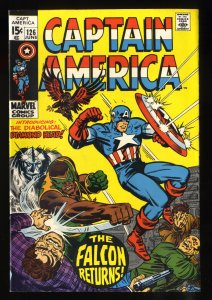 Captain America #126 VF+ 8.5 White Pages
