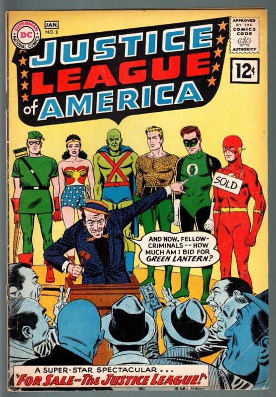 JUSTICE LEAGUE OF AMERICA #8-GREEN LANTERN & ARROW-FLASH-WONDER WOMAN-196 VG++