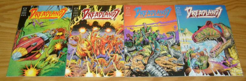 Dreadlands #1-4 VF/NM complete series ANDY LANNING dinosaurs epic comics 2 3 set