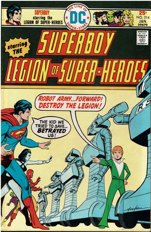 Superboy and the Legion of Super Heroes #214, 8.0 or better