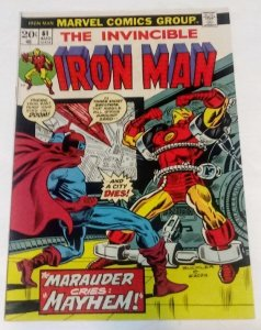 Iron Man #61 (VF+) 1973 The Marauder Cries Mayhem! ID10H