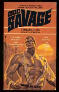 DOC SAVAGE OMNIBUS #6-PULP REPRINT PAPERBACK-4 STORIES!-very fine VF