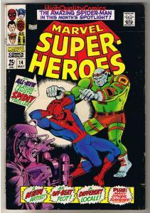 MARVEL SUPER-HEROES #14, FN, Spider-man, Jack Kirby, 1968, more in store
