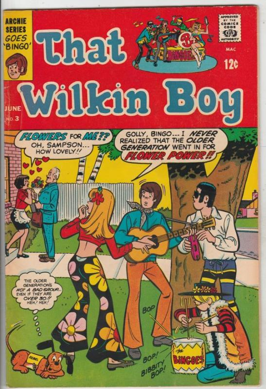 That Boy Wilkins #3 (Jun-69) FN/VF Mid-High-Grade That Wilken Boy