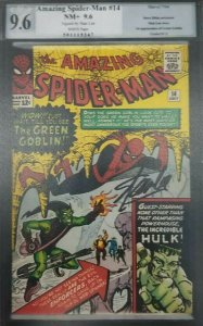 Amazing Spider-Man #14- 1964- PGX 9.6 (NM+); Signature Series Signed by Stan Lee