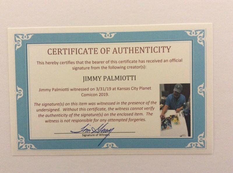 AMAZING FANTASY #11 - Scorpion - Signed by Inker Jimmy Palmiotti w/COA
