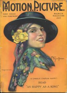 Motion Picture 3/1925-Madge Kennedy-Charlie Chaplin Tom Mix-Mary Pickford-G/VG