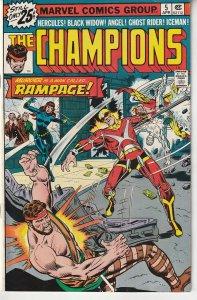 The Champions(Marvel, vol. 1) # 5 Black Widow, Ghost Rider, X-Men, Hercules