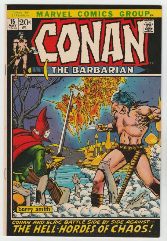 Conan the Barbarian #15 (May-72) VF/NM- High-Grade Conan the Barbarian