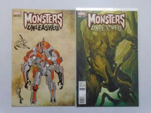 Monsters Unleashed (2016 Marvel) #4E+4D Variants - 8.0 VF - 2016