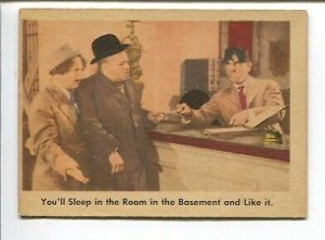 Three Stooges Original Trading Card  #4 1958-Fleer-grey back
