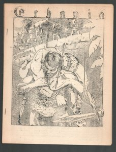 Erbania #10 1961-Edgar Rice Burroughs & Tarzan Fanzine-Cover art by Roy Morga...
