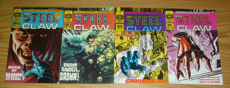 Steel Claw #1-4 VF/NM complete series - quality comics 2 3 set lot