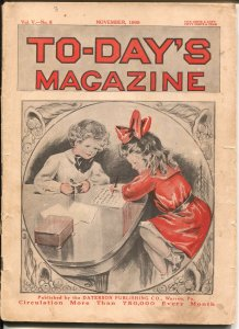 To-Day's Magazine 11/1909-pulp fiction-fashions-100+ years old