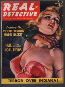 Real Detective3/1940-violent pulp crime-strangulation-VG
