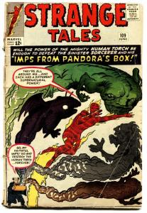 STRANGE TALES #109 1963 comic book MARVEL-HUMAN TORCH-JACK KIRBY-g/vg