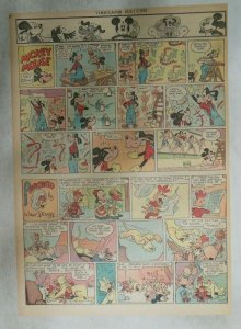 Mickey Mouse Sunday Page by Walt Disney from 8/19/1945 Tabloid Page Size