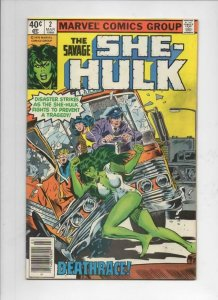 SHE-HULK #2, VG/FN, DeathRace, 1980, more Marvel and She-Hulk in store