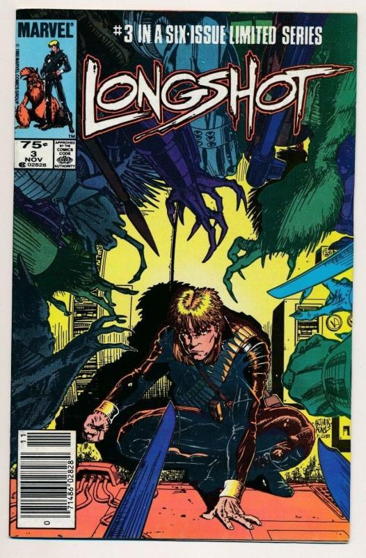 LONGSHOT #3 Marvel Comics 1985 ~ VF+ (PJ16)