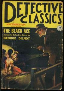 DETECTIVE CLASSICS 1929 NOV-#1-WOMAN TIED UP ON COVER G/VG