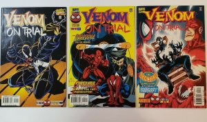 Venom On Trial #1-3 Complete Set Marvel Comics 1997 VF/NM