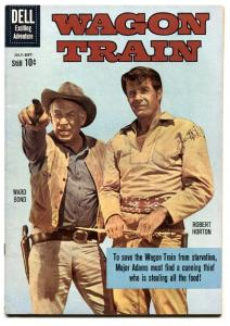 Wagon Train #6 1960- Dell TV Western- Robert Horton VF-